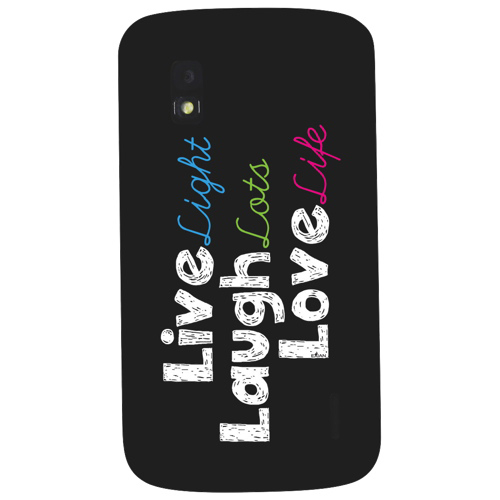 Exian Nexus 4 Fitted Hard Shell Case - Black