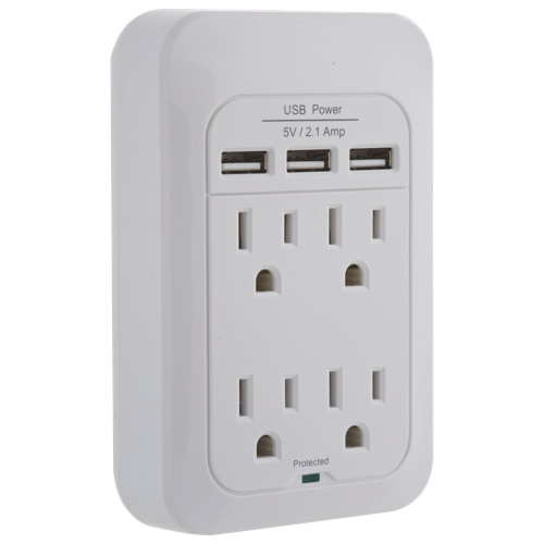 Insignia 4-Outlet Surge Protector With USB (NS-PWS548U-C)