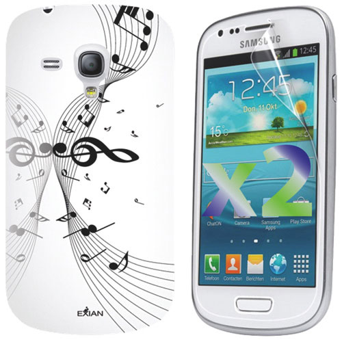 Exian Galaxy S3 Mini Fitted Soft Shell Case - White