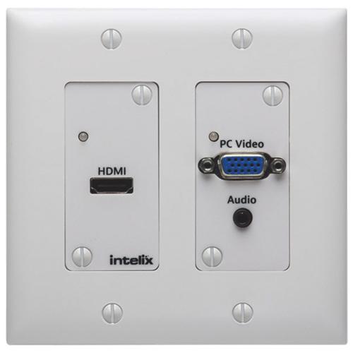 Plaque murale HDMI/VGA à commutation automatique d'Intelix (ASW-WP)