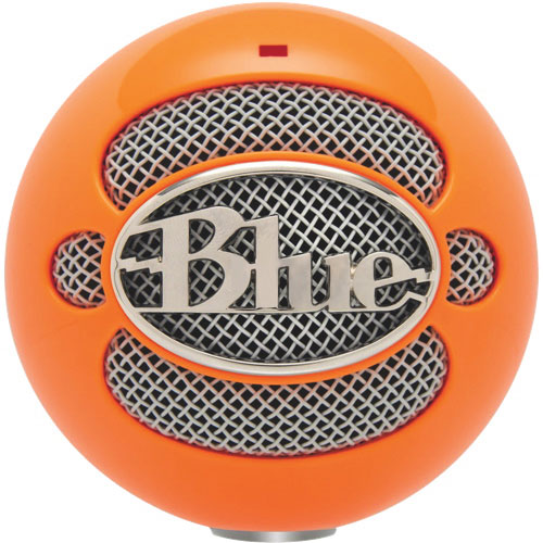 Microphone USB Snowball de Blue Microphones - Orange fluo