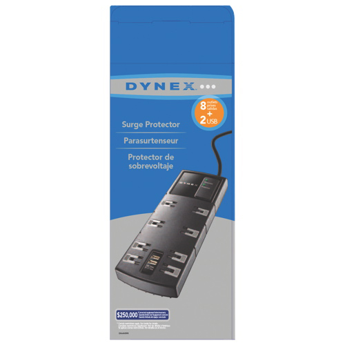 Dynex 8-Outlet Surge Protector With USB (DX-AVSP8)