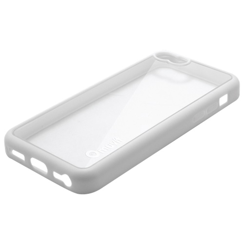 Étui-coque rigide ajusté de Muvit pour iPhone 5c - Blanc