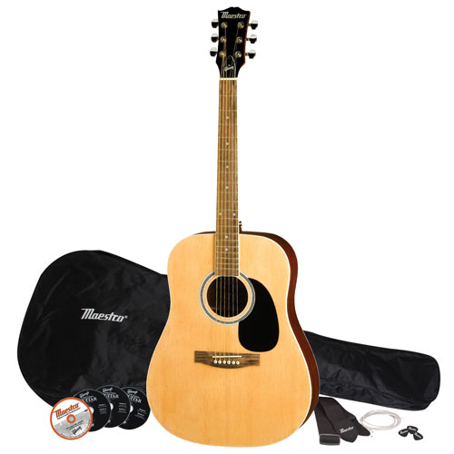 "Maestro by Gibson 41"" Acoustic Guitar Pack - Natural"
