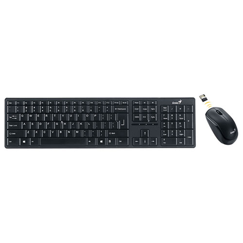 Genius SlimStar Wireless Optical Keyboard & Mouse Combo (SS8000M) - English