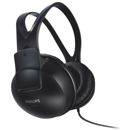 Philips SHP 1900 Over-Ear Headphones - Black