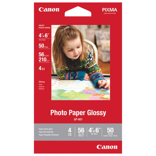 """Canon 50-Pack 4x6"""" Glossy Photo Paper"""
