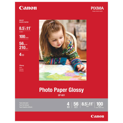 """Canon 100-Pack 8.5x11"""" Glossy Photo Paper"""