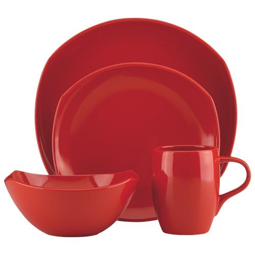 Dansk Classic Fjord 4-Piece Dinnerware Set - Red