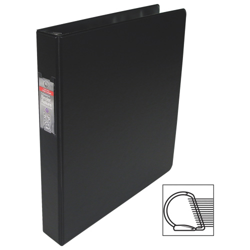 "Wilson Jones Easy Load Dublock 1"" D-Ring Binder With 2 Pockets (WLJ30041) - Black"