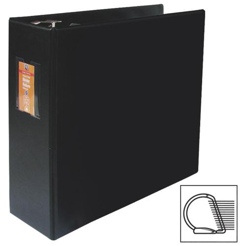 Reliure à anneaux en D de 4 po avec porte-étiquette et 2 pochettes de Wilson Jones (WLJ38306) - Noir