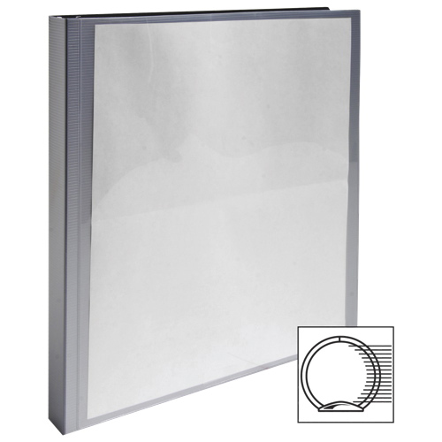 "Wilson Jones 1/2"" Flexible Presentation Binder With 2 Pockets (WLJ88201) - Silver"