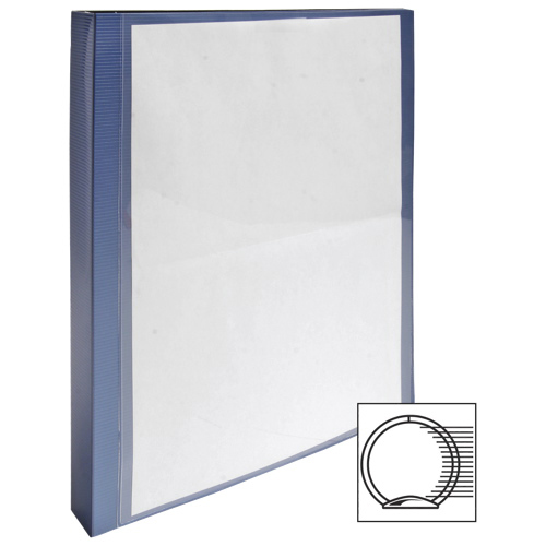 "Wilson Jones 1"" Flexible Presentation Binder With 2 Pockets (WLJ88207) - Metallic Blue"