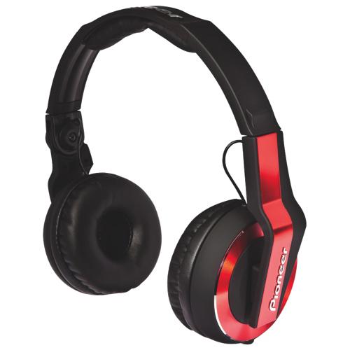 Casque d'écoute de disque-jockey professionnel de Pioneer - Rouge