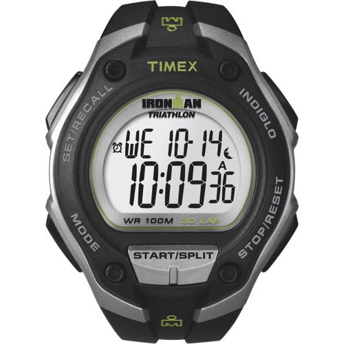 Montre sport numérique Ironman Triathlon de Timex pour hommes - Noir