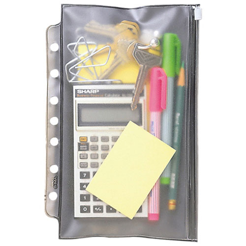 Day-Timer 7 Hole-Punched Vinyl Zippered Pouch (DTM68370)