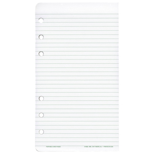 Day-Timer Multipurpose Ruled Add-In Sheets (DTM68404) - 2 Pack