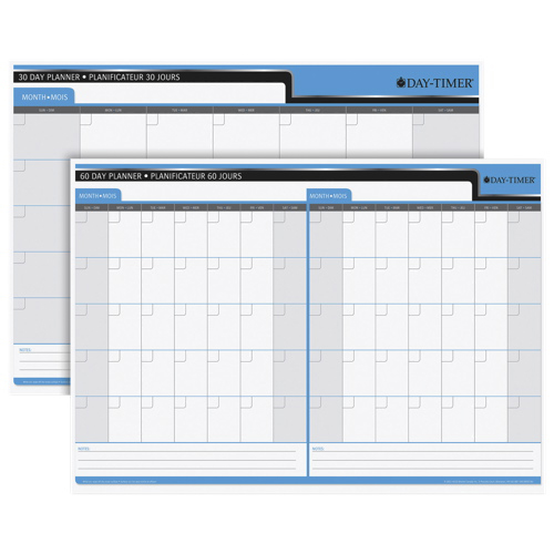 Day-Timer Write-On Wipe-Off 30/60 Day Double-Sided Planner/Calendar (DTM59736)