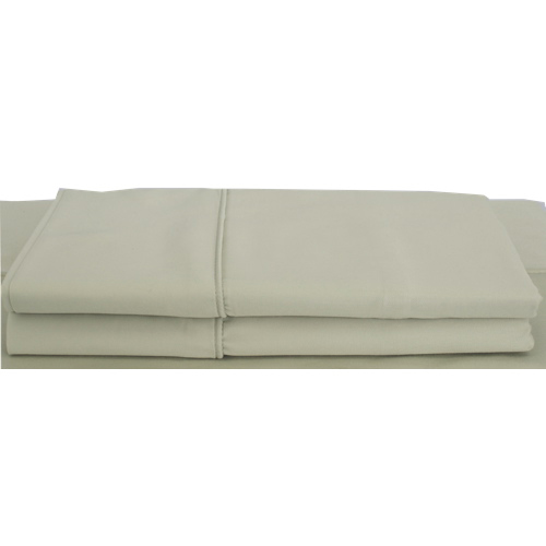 Maholi Bamboo Solid Collection 310 Thread Count Rayon Pillow Case - 2 Pack - Queen - Sage
