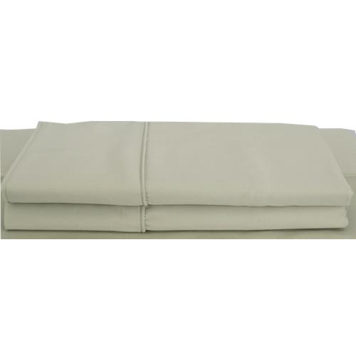 Ens. taies d'oreiller en rayonne contexture 310 Bamboo Solid de Maholi - Très grand lit - Sauge