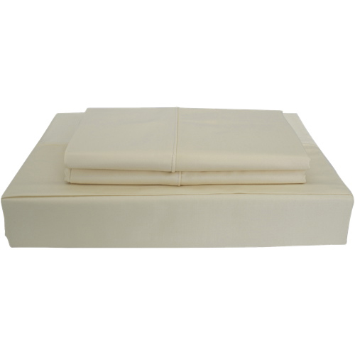 Maholi Bamboo Solid Collection 310 Thread Count Rayon Sheet Set - Queen - Beige