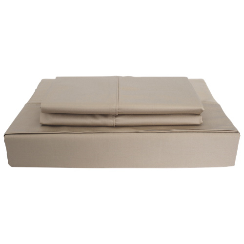 Maholi Bamboo Solid Collection 310 Thread Count Rayon Sheet Set - Double/Full - Taupe