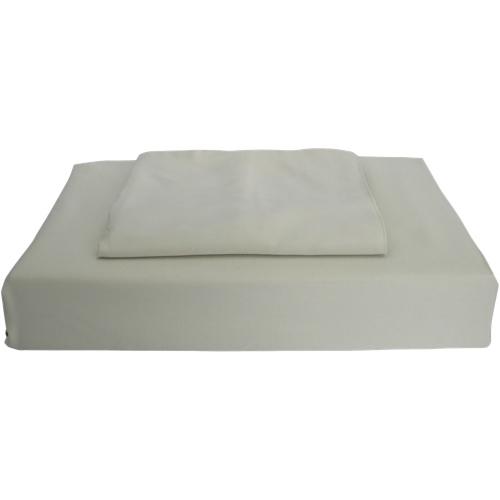 Ens. housse de couette en rayonne contexture 310 Bamboo Solid de Maholi - Très grand lit - Sauge