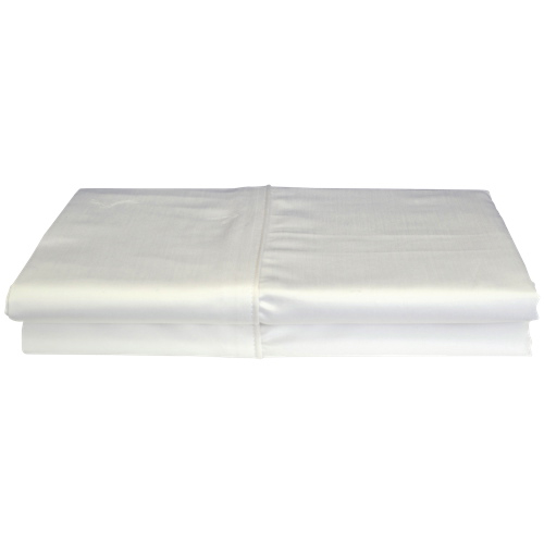 Maholi Bamboo Solid Collection 310 Thread Count Rayon Pillow Case - 2 Pack - Queen - White