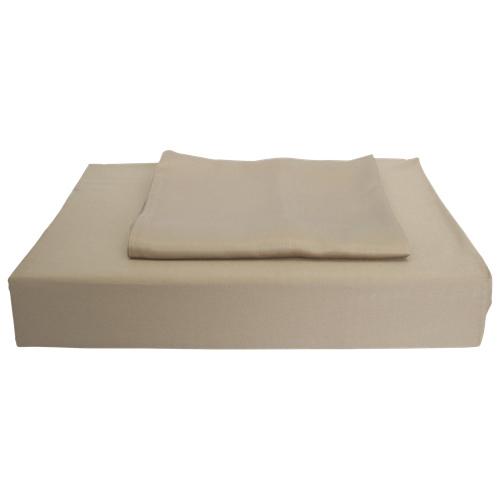 Ens. housse de couette en rayonne contexture 310 Bamboo Solid de Maholi - Grand lit - Taupe