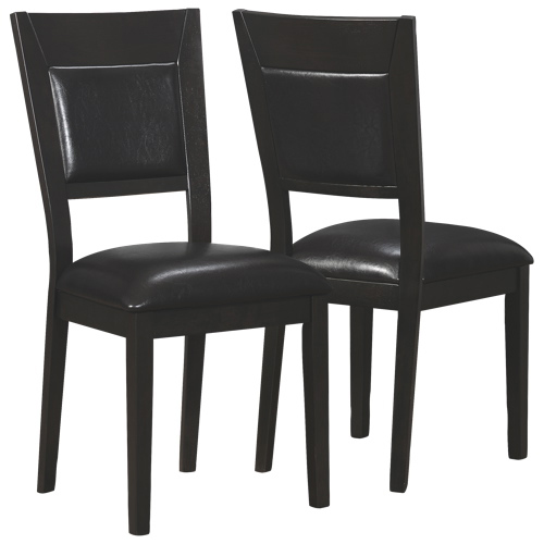 Contemporary Dining Chair Set of 2 Cappuccino Dining Chairs