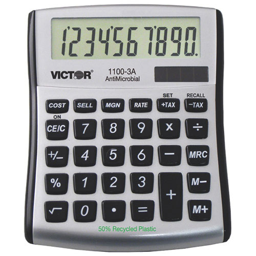 Victor 10-Digit Mini Desktop Calculator (VCT1100-3A)
