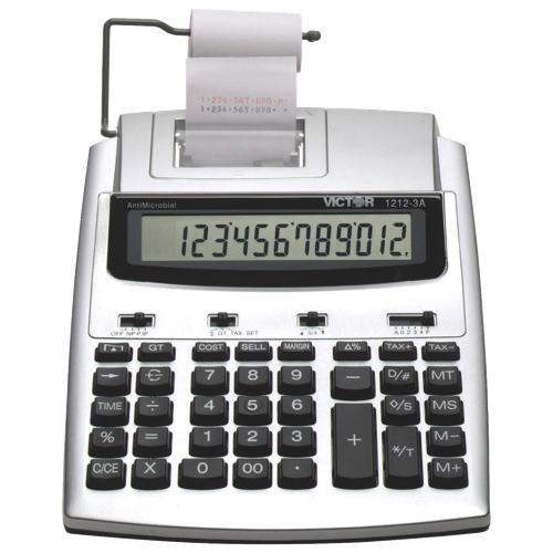 Victor 12-Digit 2 Colour Desktop Printing Calculator (VCT1212-3A) - Silver