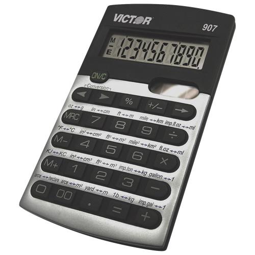 Victor 10-Digit Portable Metric Conversion Calculator (VCT907) - Silver/Black