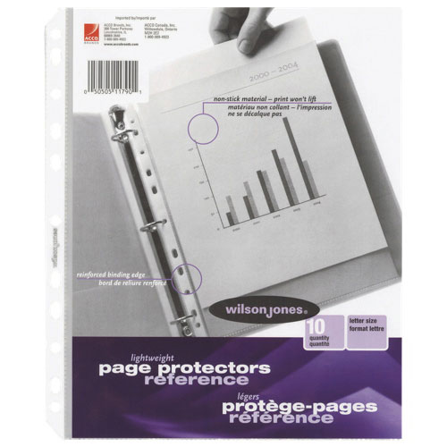 Wilson Jones Multi-Punched Page Protectors (WLJ11790) - 10 Pack - Clear