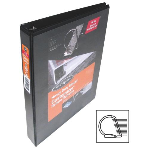 Cartable résistant à anneaux en D de 1,5 po Customizer de Wilson Jones (WLJ13675) - Noir