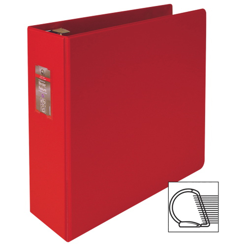 "Wilson Jones Dubblock 3"" D-Ring Binder (WLJ30000) - Red"