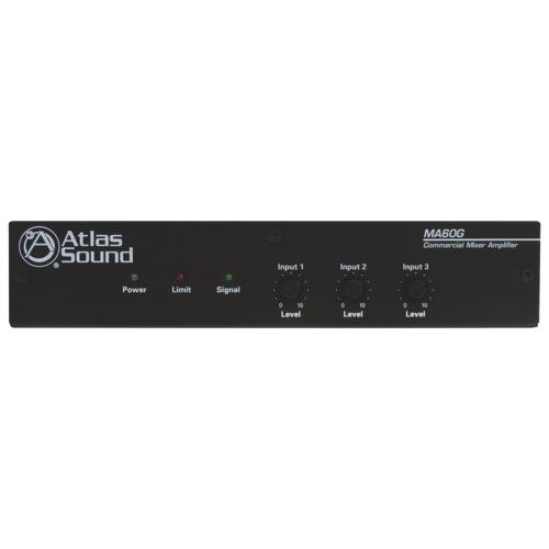Amplificateur/mélangeur 3 canaux de 60 W d'Atlas Sound (MA60G)