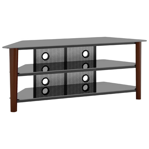 CorLiving TV Stand for TV's Up To (TAL-694-T) - Dark Brown