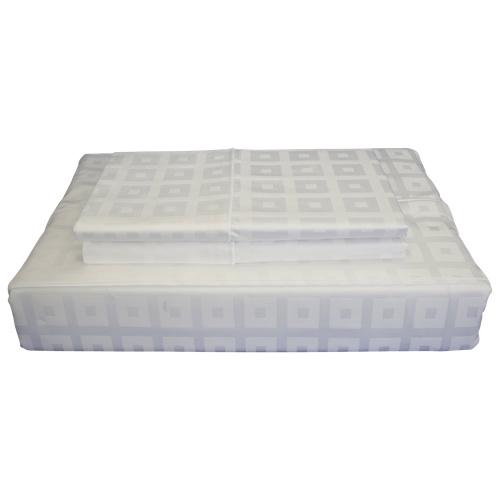 Maholi Bliss Collection 400 Thread Count Egyptian Cotton Sheet Set - King - White
