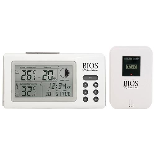 BIOS Weather Indoor/Outdoor Wireless Thermometer & Hygrometer ...