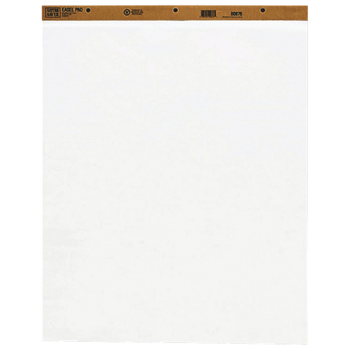 Nature Saver Plain Easel Pad (NAT00876) - 2 Pack - White