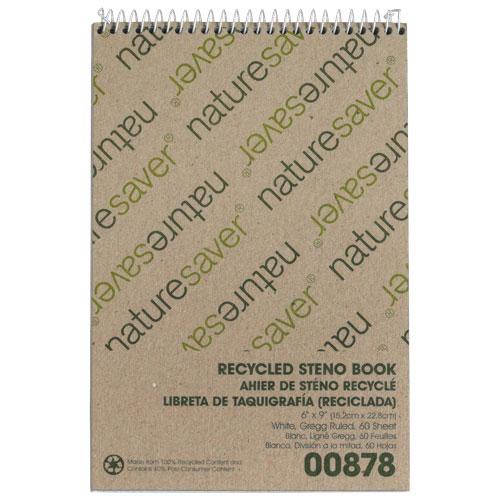Bloc-sténo recyclé de Nature Saver (NAT00878) - Blanc