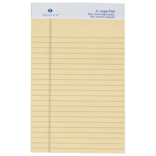 Sparco Coloured Jr. Legal Note Pad (SPR01069) - Ivory