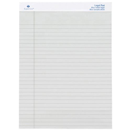Bloc-notes format légal coloré de Sparco (SPR01074) - Blanc