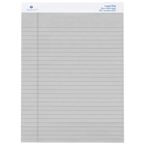 Sparco Coloured Legal Note Pad (SPR01075) - Grey