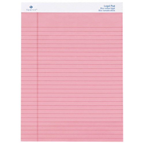 Sparco Coloured Legal Note Pad (SPR01076) - Rose