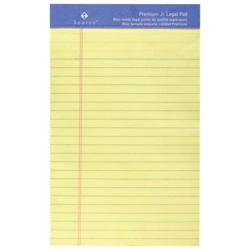 Sparco Premium Grade Jr. Legal Note Pad (SPR1058) - Yellow