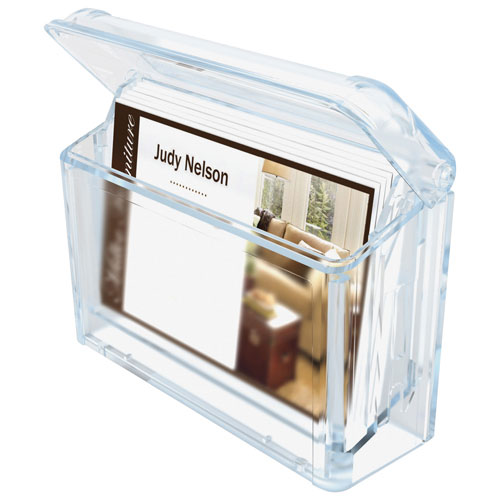 Delfect-o Grab-a-Card Outdoor Business Card Holder (DEF70901) - Clear