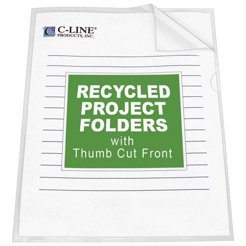 C-Line Tear Resistant Project Folders (CLI62127) - 25 Per Set - Clear