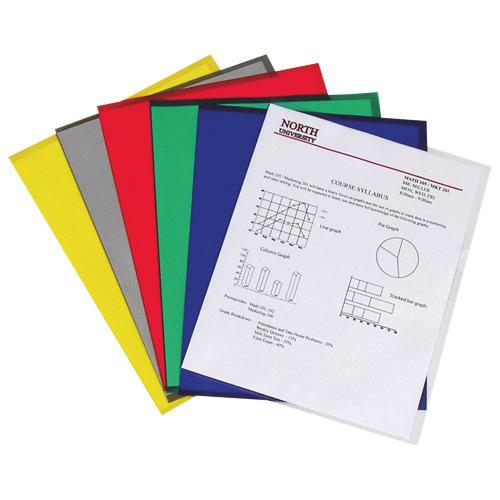 C-Line Tear Resistant Project Folders (CLI62130)- 25 Per Set - Assorted Colours
